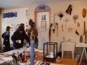 Jill Powers' studio