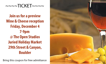 Open Studios Juried Holiday Market Wine & Cheese reception