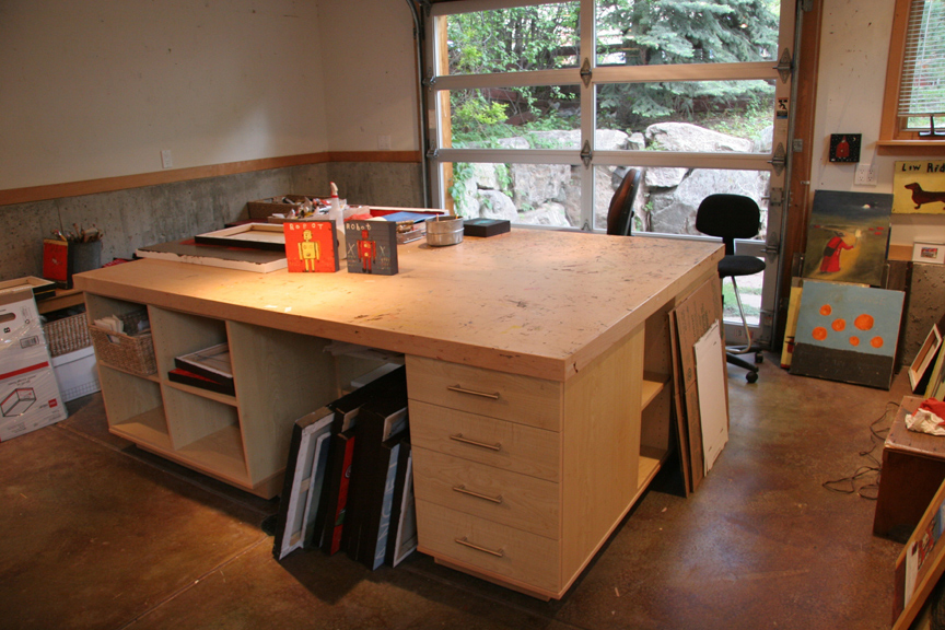 Pin by ray dugas on artist studios pinterest - Table studio ...